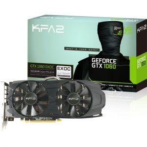 3GB KFA2 GeForce GTX 1060 EX OC Aktiv PCIe 3.0 x16 (Retail)