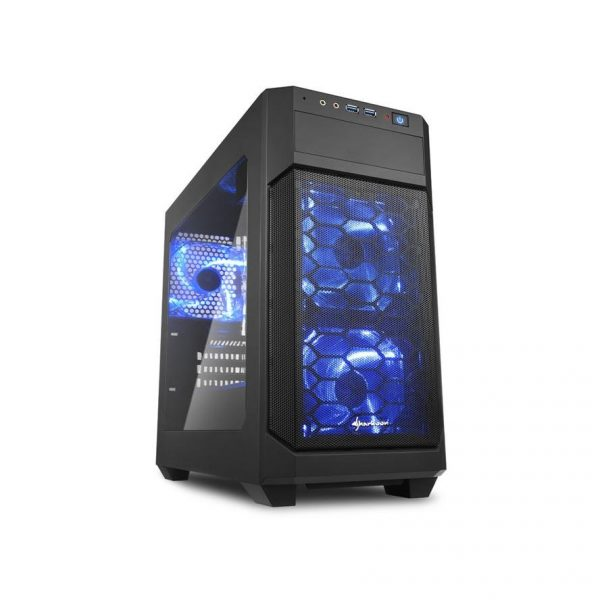 Gehäuse Sharkoon V1000 Window schwarz Micro-ATX