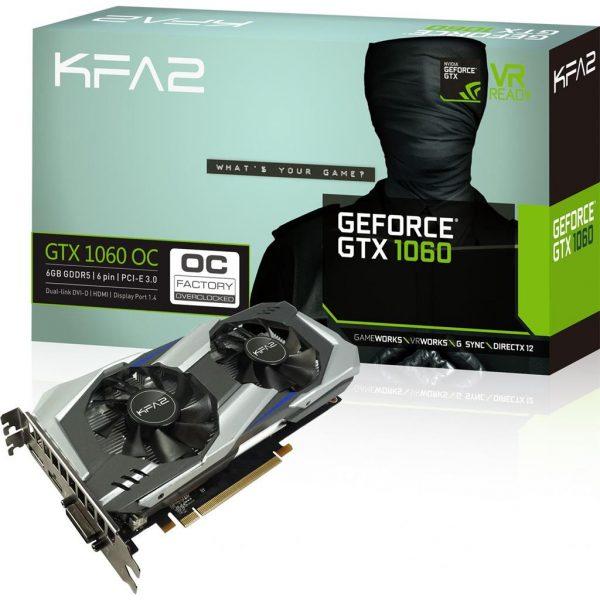 6GB KFA2 GeForce GTX 1060 OC Aktiv PCIe 3.0 x16 (Retail)