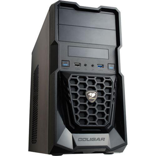 Cougar Spike Mini Tower Intel Kompakt Office PC L4 (Core i3-8100, 8GB, SSD, HDD, WIN 10)