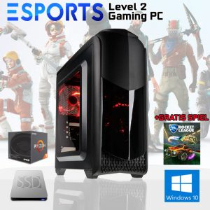 Level 2 eSPORTS Gaming PC (Ryzen 3 2200G, 8GB, Vega 8, SSD)