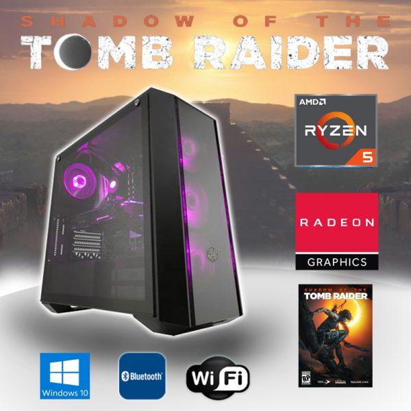 Gaming PC AMD Ryzen 5 (Ryzen 5 2600x, 16GB, RX 580 8GB) Shadow of the Tomb Raider Edition