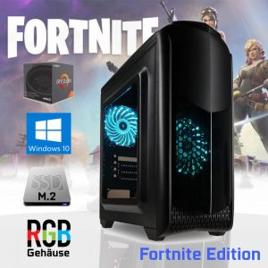 RGB Gaming PC Fortnite Edition ✓Ryzen 3 ✓240GB M.2 SSD ✓8GB DDR4
