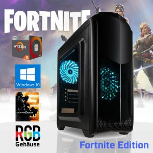 RGB Gaming PC TG06 (Ryzen 5 2400G, 16GB, Vega 11, 240GB SSD) Fortnite Edition
