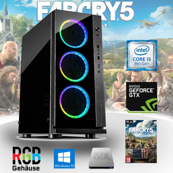 Gaming PC Intel Core i5 (Core i5-8400, 8GB, GeForce GTX 1050Ti 4G) Far Cry 5 Edition