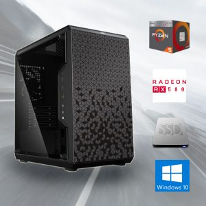 Gamer PC ✓Ryzen 5 1600X 6x4.00GHz ✓RX 580 8GB ✓16GB DDR4 ✓240GB SSD✓WQHD Edition